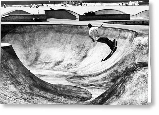 Skateboard Print Greeting Cards - Riding It Greeting Card by John Rizzuto