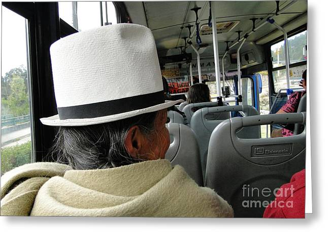 Bus Ride Greeting Cards - Riding The Bus Greeting Card by Al Bourassa