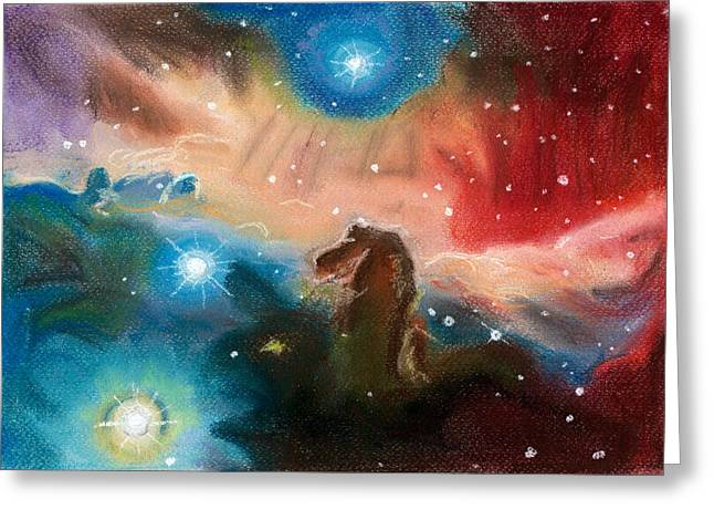 Astronomy Pastels Greeting Cards - Riding the storm Greeting Card by Vanessa Sancho