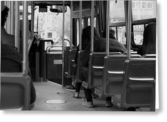 Street Art For The Home Greeting Cards - Riding the Street Car Greeting Card by Nicky Jameson
