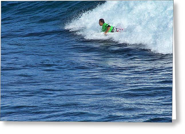 Ron Roberts Photography Greeting Cards - Riding the Surf Greeting Card by Ron Roberts