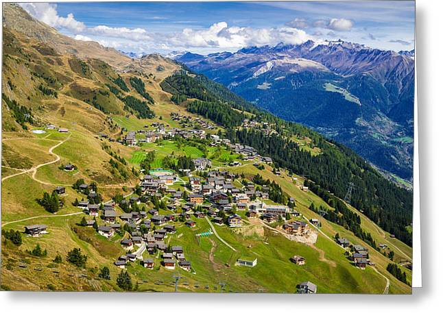 Swiss Photographs Greeting Cards - Riederalp Valais Swiss Alps Switzerland Europe Greeting Card by Matthias Hauser