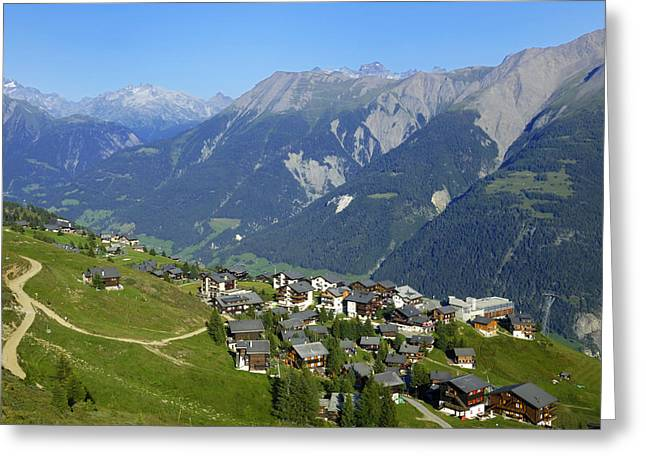 Swiss Photographs Greeting Cards - Riederalp Valais Swiss Alps Switzerland Greeting Card by Matthias Hauser