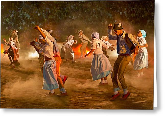 Traditional Dance Greeting Cards - Riel Dance 02 Greeting Card by Basie Van Zyl