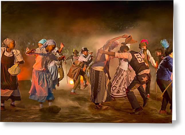 Traditional Dance Greeting Cards - Riel Dance 03 Greeting Card by Basie Van Zyl