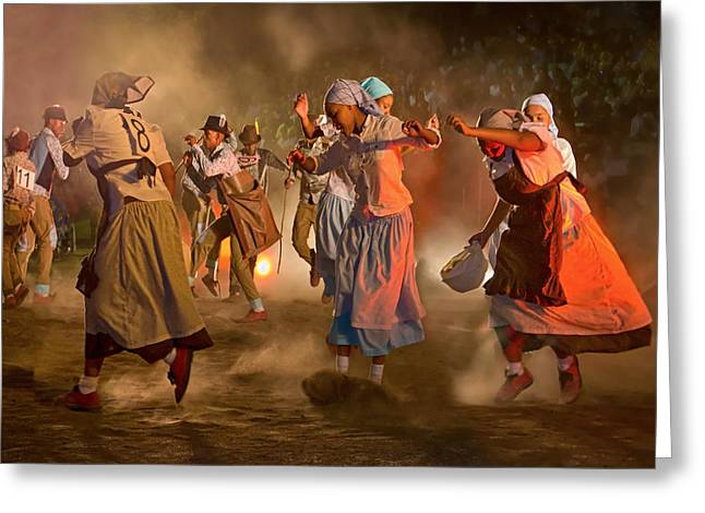Traditional Dance Greeting Cards - Riel Dance 04 Greeting Card by Basie Van Zyl
