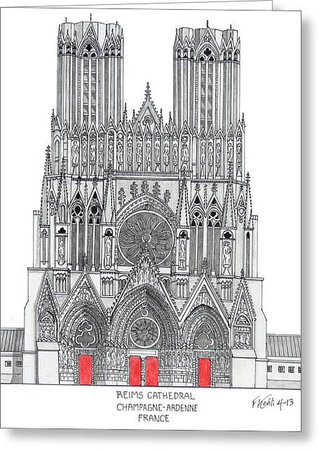 Buildings Greeting Cards - Riems Cathedral Greeting Card by Frederic Kohli