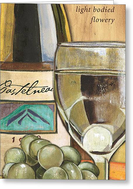 Wine Illustrations Greeting Cards - Riesling Greeting Card by Debbie DeWitt