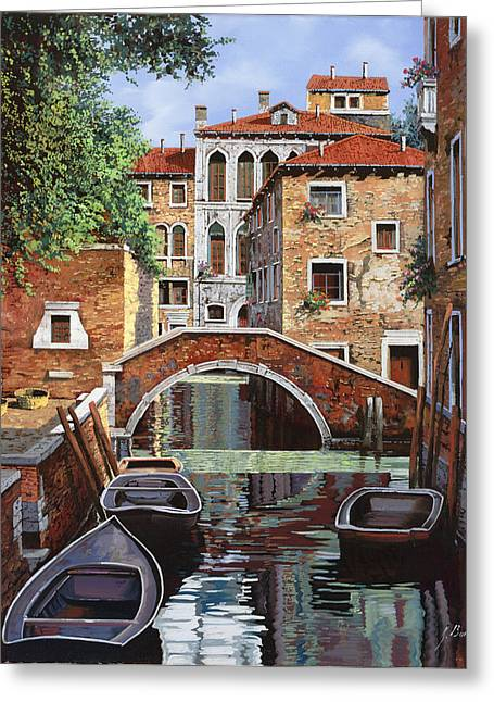 Lagoon Greeting Cards - Riflessi Di Venezia Greeting Card by Guido Borelli