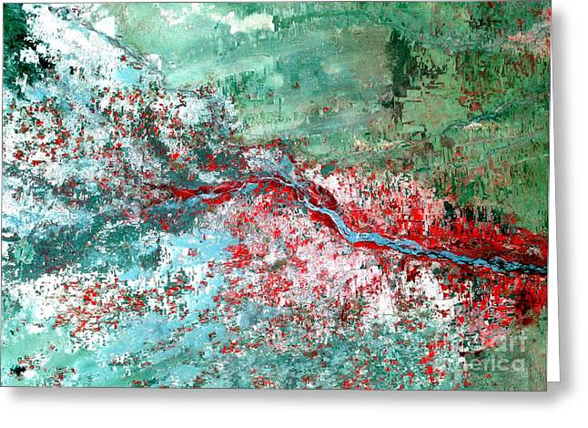 Flooding Greeting Cards - Rift Valley Flooding Landsat 2000 Greeting Card by Science Source