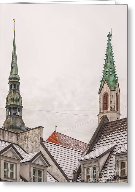 Evangelical Greeting Cards - Rigan Steeples Greeting Card by Antony McAulay