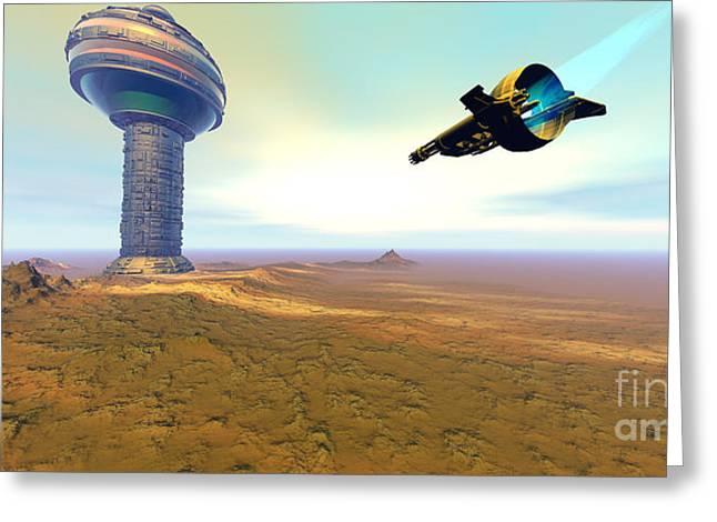 Jet Star Greeting Cards - Rigel 7 Greeting Card by Corey Ford
