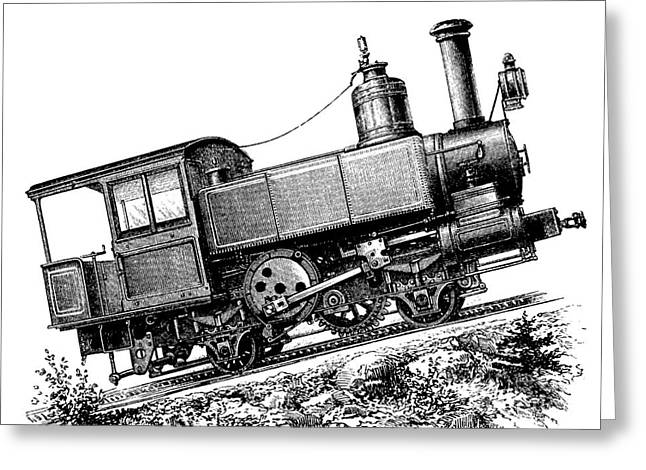 European Artwork Greeting Cards - Riggenbach Cog Railway System, 1880s Greeting Card by Bildagentur-online