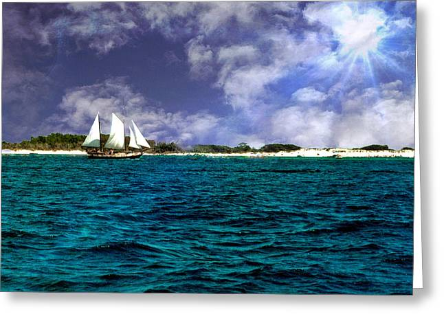 Panama City Beach Greeting Cards - Right On Course...... Greeting Card by Tanya Tanski