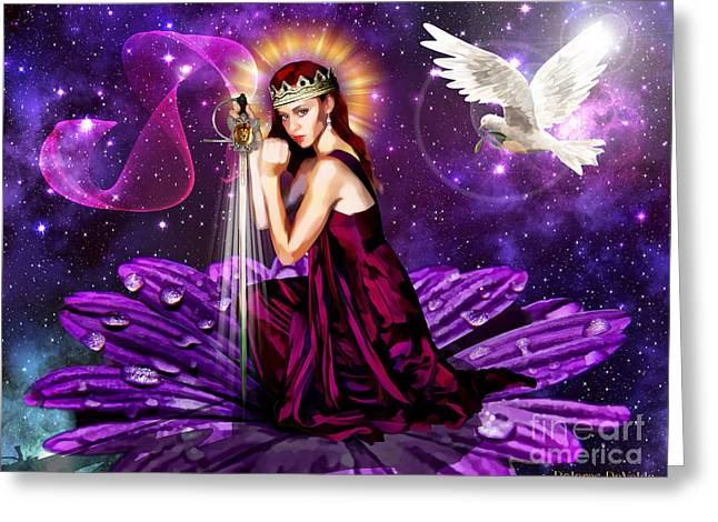 Warrior Bride Greeting Cards - Righteous warrior Bride Greeting Card by Dolores Develde