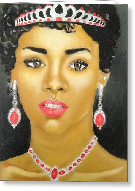 Old Masters Drawings Greeting Cards - Rihanna  Greeting Card by Abiodun Bewaji