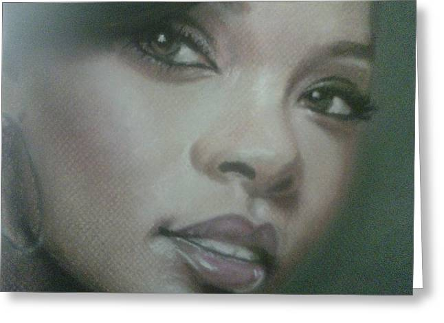 Celebrity Pastels Greeting Cards - Rihanna  Greeting Card by Ronnie Melvin
