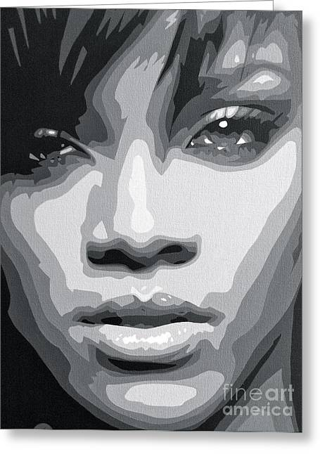 Rnb Greeting Cards - Rihanna  Greeting Card by Siobhan Bevans