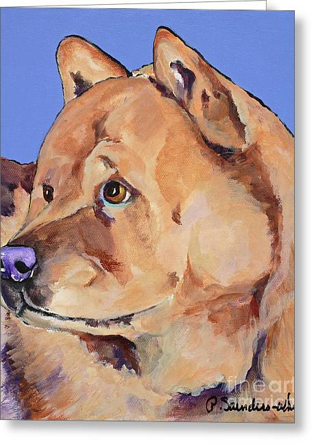 Working Dog Greeting Cards - Riley Greeting Card by Pat Saunders-White