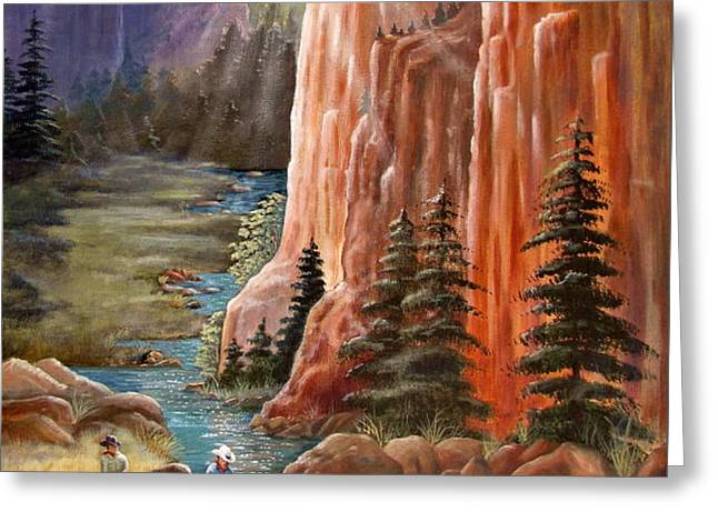 Rim Canyon Ride Greeting Card by Marilyn Smith