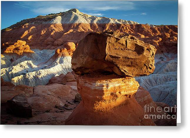 Rimrock Badlands Greeting Card by Inge Johnsson
