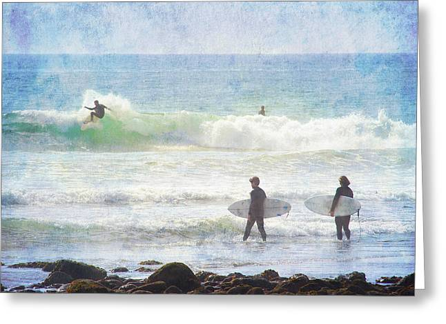 Rincon Beach Greeting Cards - Rincon 4 Greeting Card by Beth Taylor