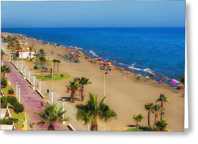Rincon Beach Greeting Cards - Rincon de la Victoria Beach - Andalusia Spain Greeting Card by Mountain Dreams