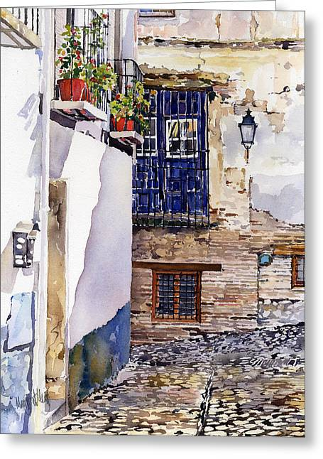 Rincon Paintings Greeting Cards - Rincon del Albaicin Greeting Card by Margaret Merry