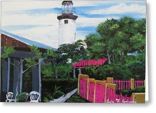 Rincon Greeting Cards - Rincon Lighthouse Greeting Card by Luis F Rodriguez