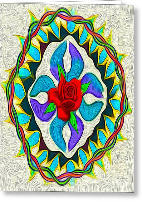 Gregory Dyer Digital Greeting Cards - Ring Around the Rose Greeting Card by Gregory Dyer