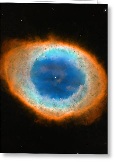 Zodiac Ring Greeting Cards - Ring Nebula Greeting Card by Celestial Images