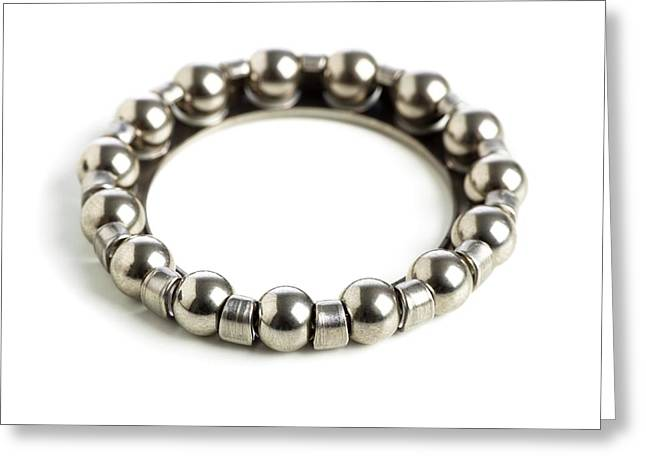 Ring Of Ball Bearings Greeting Card by Science Photo Library
