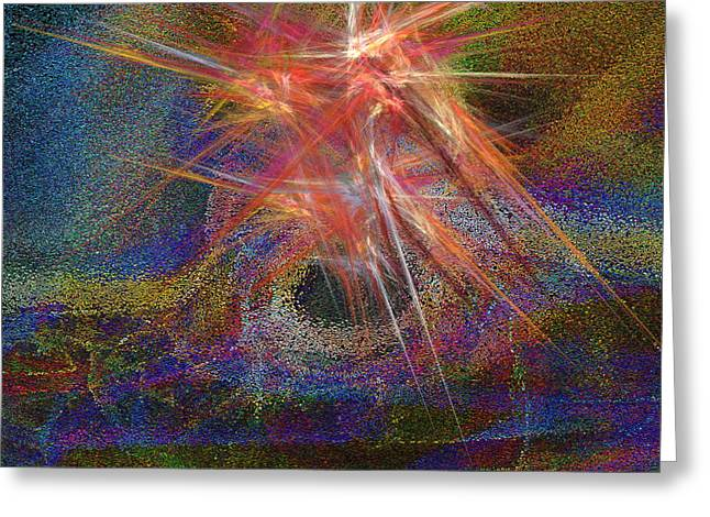 Ring Of Fire Greeting Card by Michael Durst