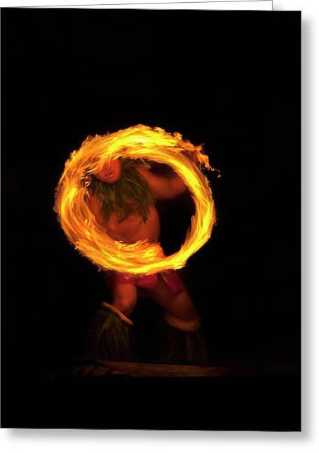 Dancer Photographs Greeting Cards - Ring of Fire Greeting Card by Mike  Dawson