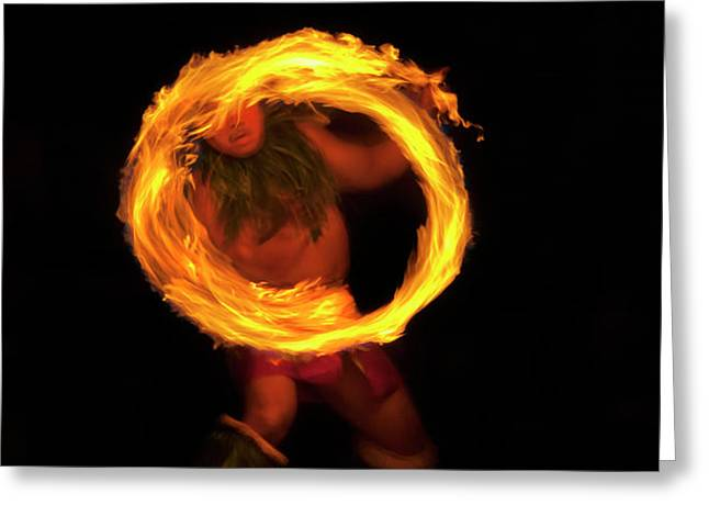 Ring of Fire Greeting Card by Mike  Dawson