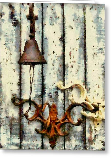 Coat Rack Greeting Cards - Ring the Bell Greeting Card by Janine Riley