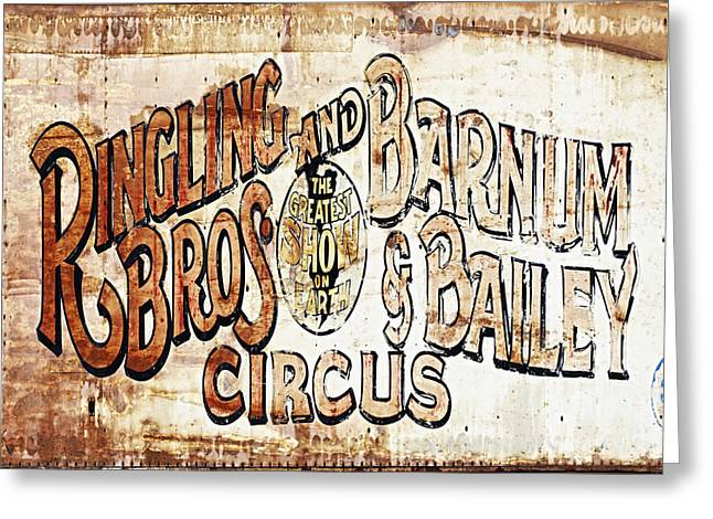 Missing Greeting Cards - Ringling Brothers And Barnum And Bailey Circus Greeting Card by Skip Nall