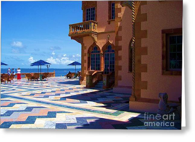 Shades Of Red Greeting Cards - Ringling house Greeting Card by Chuck  Hicks