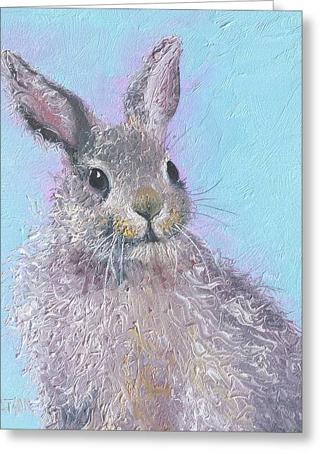 Easter Bunny Painting - Ringo  Greeting Card by Jan Matson
