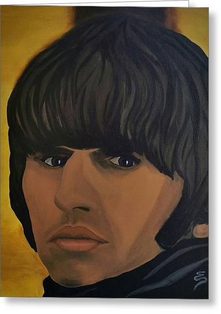 Ringo Star  Beatles For Sale Greeting Card by Edward Pebworth