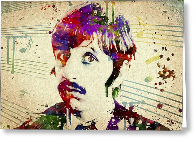The Help Greeting Cards - Ringo Starr Greeting Card by Aged Pixel