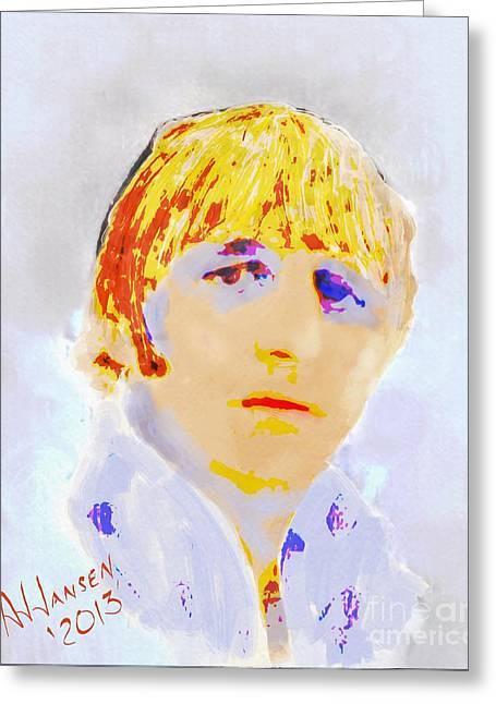 Ringo Starr Greeting Card by Arne Hansen