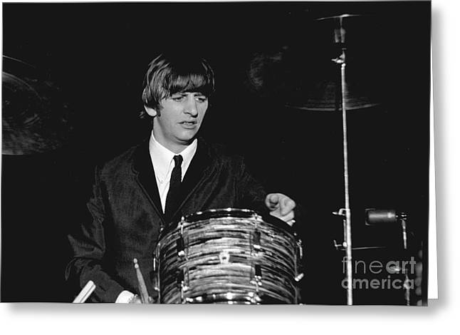 Ringo Starr Greeting Cards - Ringo Starr, Beatles Concert, 1964 Greeting Card by Larry Mulvehill