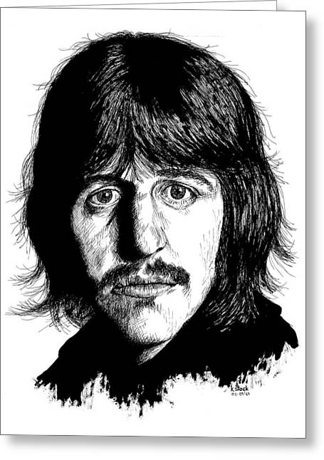 Ringo Starr Drawings Greeting Cards - Ringo Starr Greeting Card by Kenneth Stock