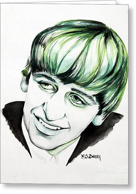 Ringo Starr Greeting Cards - Ringo Starr Greeting Card by Maria Barry