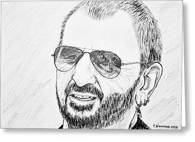 Ringo Starr Drawings Greeting Cards - Ringo Greeting Card by Tricia Winwood