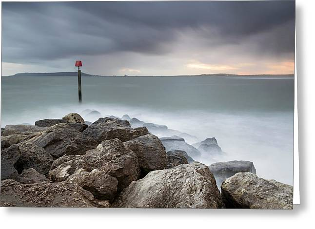 Ringstead Bay Greeting Card by Chris Frost