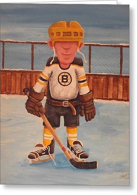 Nhl Winter Classic Greeting Cards - Rinkrattz - Boston RG Greeting Card by Ron  Genest