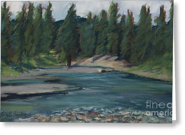River View Pastels Greeting Cards - Rio Blanco Greeting Card by Mary Benke
