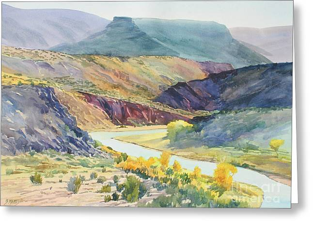 Chama River Greeting Cards - Rio Chama Autumn Greeting Card by Bernard Marks